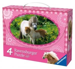 Ravensburger:07204 Лошади 4 в 1  (2х25, 2х36)