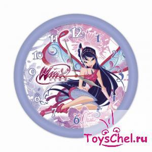Barbie:112004 Часы настенные пластиковые Winx Club/Муза