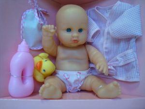 Happy People:50338 Кукла 28см. аксс. д/ванны