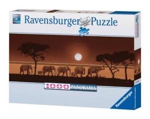 Ravensburger:15110  Слоны в саванне 1000 (панорама)
