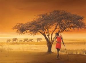 Ravensburger:14145 Африка, Масаи 500 дет.