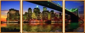 Ravensburger:19906 Бруклинский мост 1000  (триптих)