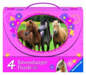 Ravensburger:07268 Лошадки  4 в 1  (2х64 2х81)