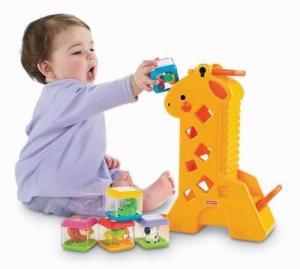 Fisher-Price:B4253  Жираф с кубиками