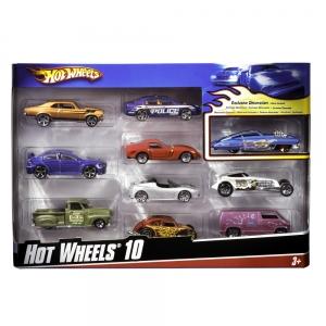 Hot Wheels:54886 Подарочный набор из 10 машинок