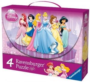 Ravensburger:07202 Дисней: Принцессы 4 в 1  (2х25, 2х36)