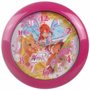 Barbie:122005  Часы настенные круглые Винкс 33см.