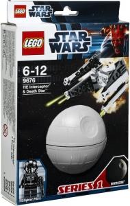 LEGO:9676 Звездные войны Перехватчик Tie и Звезда смерти