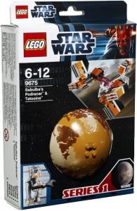LEGO:9675 Звездные войны Гоночный кар Себульбы и планет