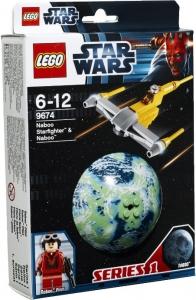 LEGO:9674 Звездные войны Истребитель Набу и планета Наб
