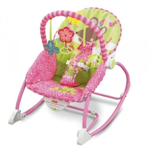 Fisher-Price:W5537 Розовое кресло-качалка для девочек (до18кг)